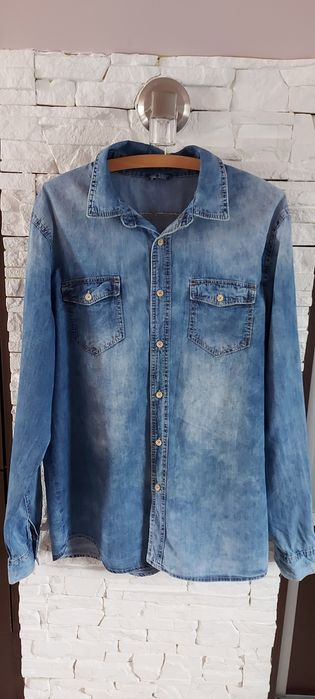 Nowa męska koszula jeansowa L Krzeszowice - image 1
