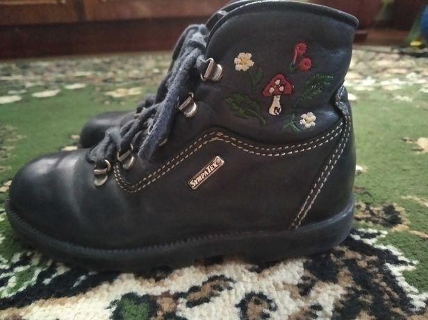 Демисезонные кожаные ботинки шкіряні