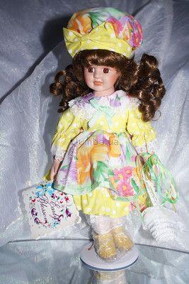 Фарфоровая кукла из США,новая