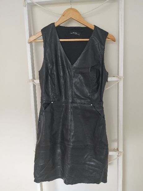 skórzana (eko skóra ) sukienka Bershka M