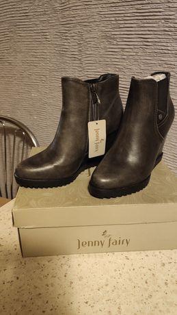 Nowe Botki na koturnie. Jenny Fairy