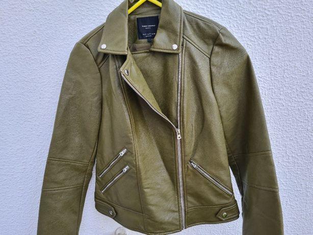 Blusão biker com efeito de pele Zara - Tamanho S