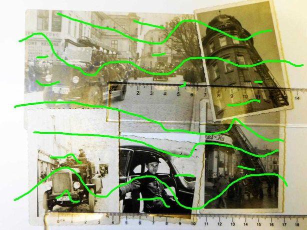 fotografie Przemyśl przed wojną straż pożarna wóz bojowy hełm pompa