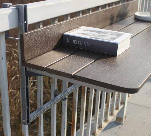 Stół regulowany do balustady balkonowej