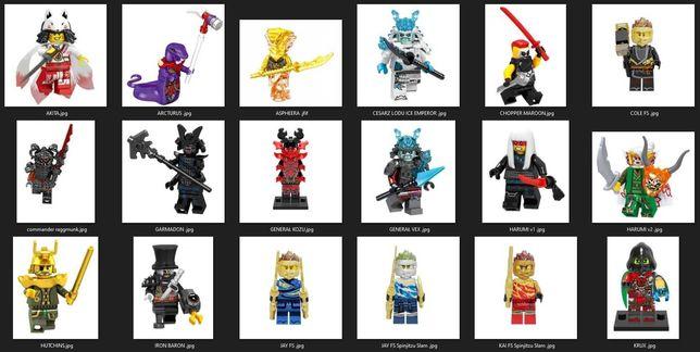Figurki na sztuki klocki Ninjago kompatybilne z lego dużo modeli