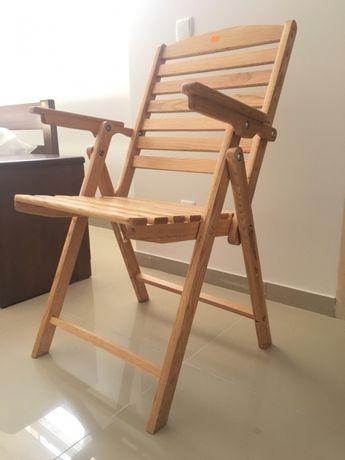 Крісло трансформер розкладне дерев'яне