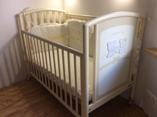 Детская кроватка Pali  Италия. + Матрас и бортики на кровать Italbaby