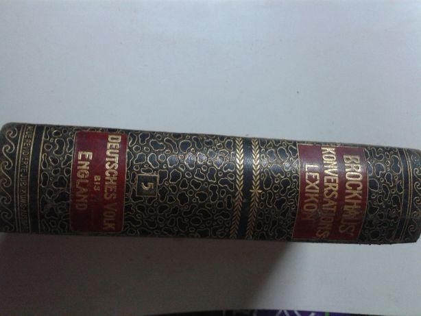 Leksykon z lat 1908 w pięknej oprawie.