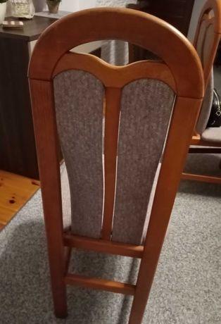 Krzesła tapicerowane drewniane 6 szt