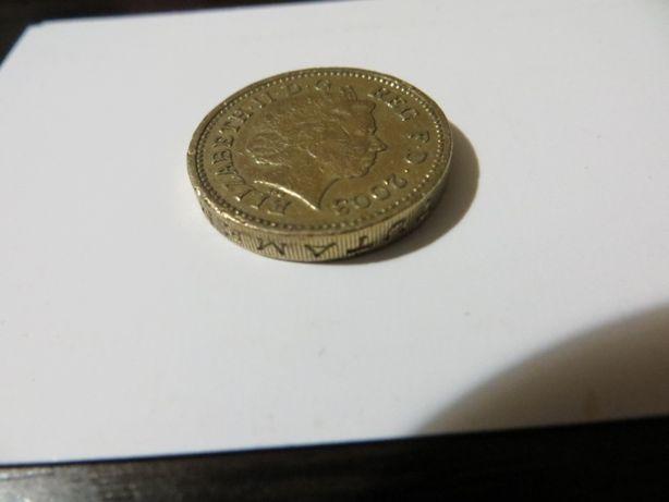 Монета Великобритании One Pound 2003 Elizabeth 2 +подарок