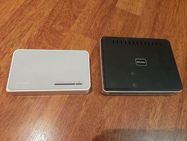 Комутатор TP-Link TL-SF1008D и D-Link DSL-2500U Цена за оба.