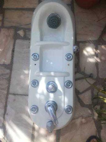 coluna de duche com jatos de massagem