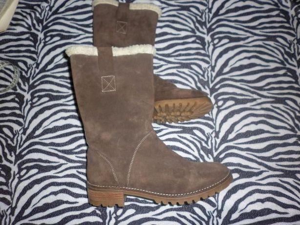 Сапоги-ботинки кожа 24,5-25,5см стелька