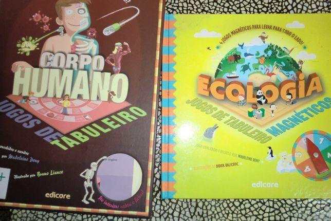 Jogos de tabuleiro educativos da Edicore e 10 livros