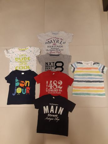 Mega paka t-shirt, koszulek, r80 next, Benetton, Mayoral, h&m