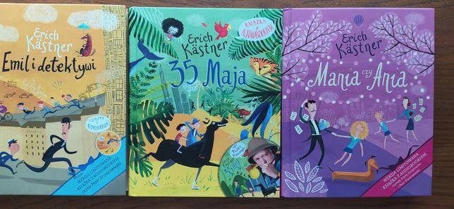 Zestaw książek Erich Kastner 35 Maja, Emil i detektywi, Mania czy Ani