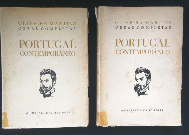 Portugal Contemporâneo  (vols II e III) - Oliveira Martins