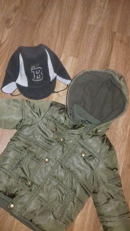 Куртка демисезонная на мальчика Textar 92р.Шапка в подарок Цвет хаки