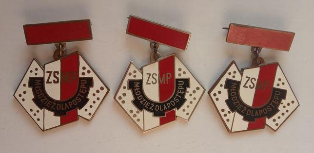 Odznaka odznaki ZSMP BPS zestaw PRL