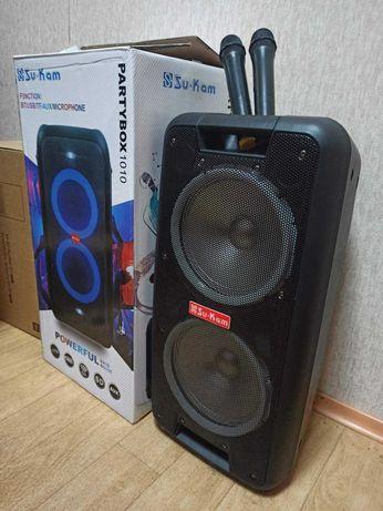 Колонка большая с двумя микрофонами PARTYBOX 1010 НОВАЯ