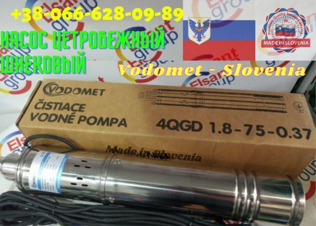 Насос глубинный в скважину колодец шнековый заводской Словения4QGD-0,3