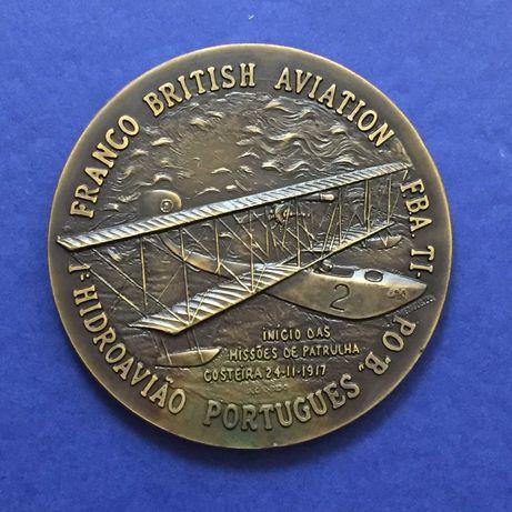 medalha - 1º. Hidroavião Português 1917:1918 - 80mm