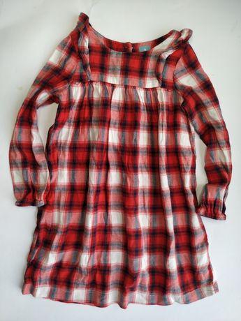 Gap śliczna sukienka wiskoza krata misjonarka Must Have  116cm