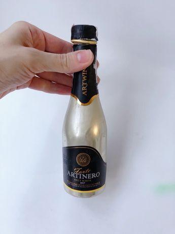 Мини бутылка шампанского, пустая стеклянная мини бутылка