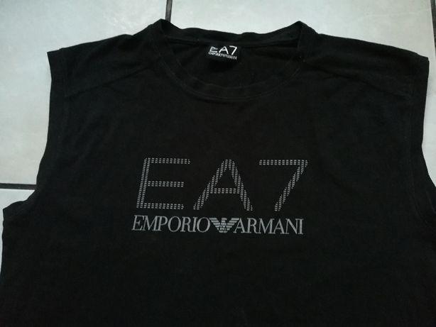 EA 7 Emporio Armani t-shirt, bluzka, bokserka koszulka bez rękawów M/L