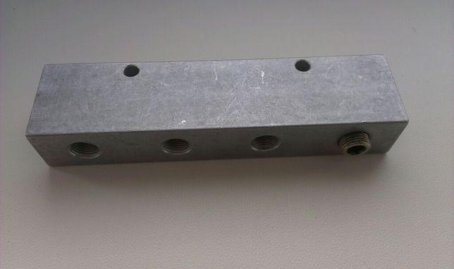 Rozdzielacz aluminiowy plaski gwintowany
