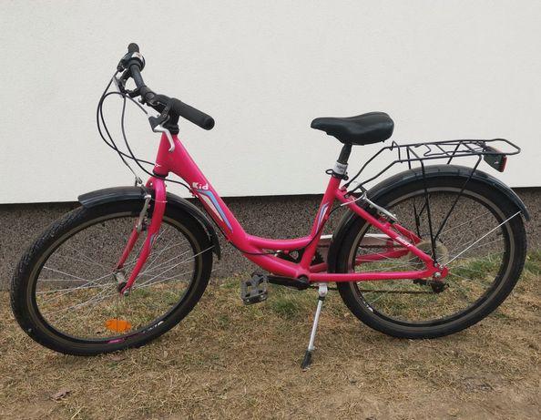 """Rower 24 dla dziewczynki damka łabędź kola 24"""" 24 cale"""