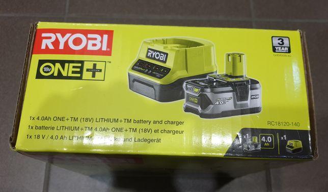 Ryobi One+ nowy zestaw akumulator 4Ah + ładowarka