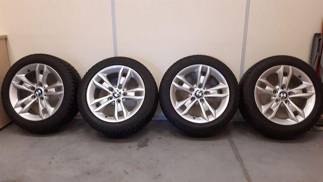 Alufelgi z oponami zimowymi Dunlop do BMW 17 cali Stan bardzo dobry
