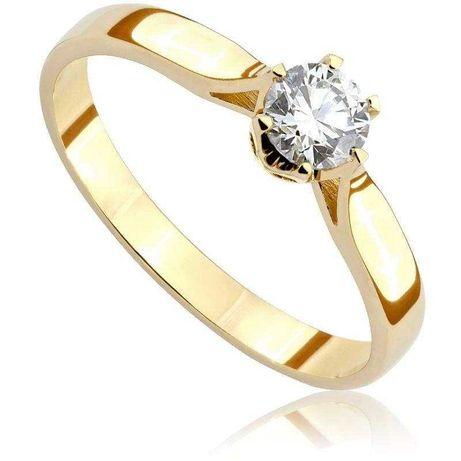 Pierścionek Zaręczynowy  z Diamentem z Żółtego Złota pr 585