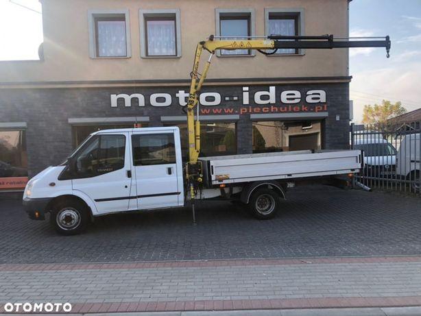 Ford TRANSIT DOKA 7-OSOBOWY + HDS  Salon Polska Pierwszy Właściciel 7 osobowy plus HDS HYVA CRANE