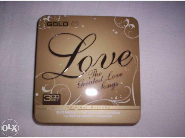 Caixa com 3 cds the greatest love songs
