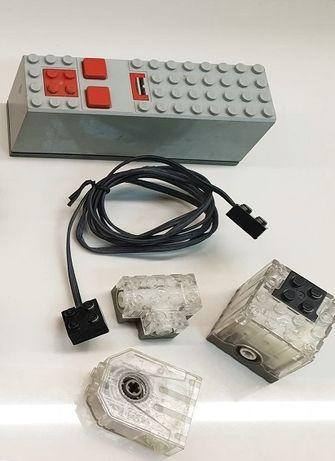 Lego technic silnik 9v + battery box i okablowanie unikat