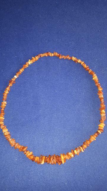 Korale z bursztynu