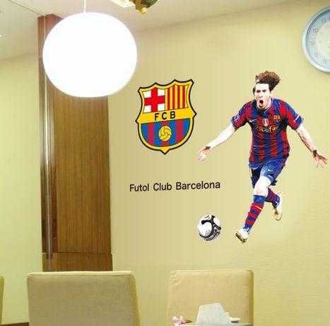 Naklejki na ścianę ścienna Messi Barcelona 100x120 piłkarz