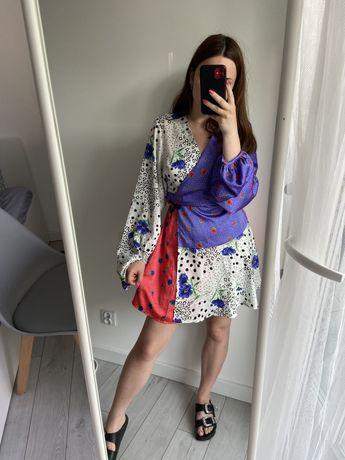 Sukienka patchwork L