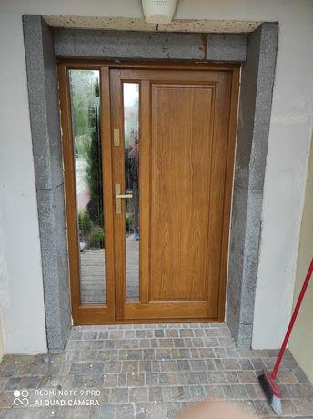 Drzwi zewnętrzne drewniane ciepłe wysokiej jakości atrakcyjne ceny