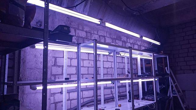 Ферма вертикальная для микрозелени, лука, рассады и т.д. с фито светом