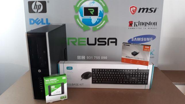Pc-HP Escritório i3-3220.3.3Ghz ,8Gb,Ssd120GB+HDD500GB,WIFI,USB3.0,W10