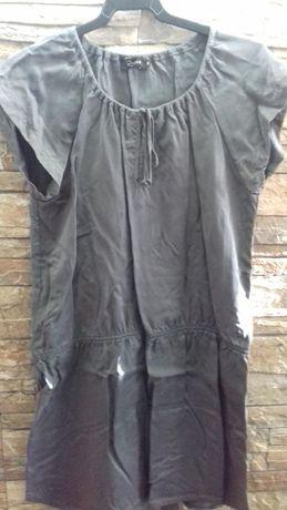 "Vestido túnica cinza escuro ""riopele"" tamanho 38"