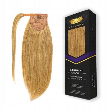 Kucyk doczepiany Dopinany włosy naturalne 40cm KUC mo