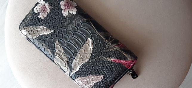Włoski portfel Diana&Co kwiatowy/ elegancki NOWE