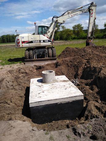 Szamba betonowe, zbiornik na wodę o poj.3,5,6,8,10,12m³