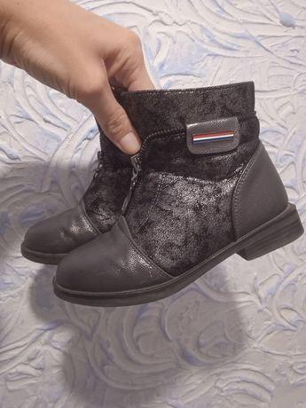 Кожаные осенние ботинки 29р,18.5см