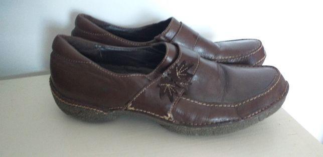 clarks skórzane buty półbuty  39.5 uk 6.5