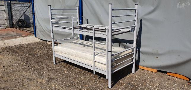 Łóżko piętrowe pracownicze metalowe wojskowe rozkładane 90x190cm BRUTT